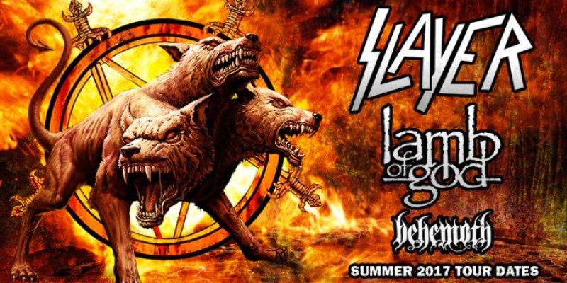 Slayer, Lamb Of God, Behemoth Tour Dates 2017