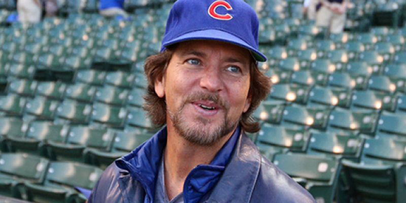 Eddie Vedder Busks Outside Wrigley Field After Cubs Game