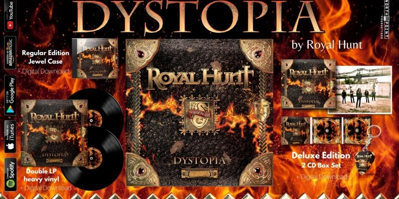 "ROYAL HUNT: BRAND NEW CONCEPT STUDIO ALBUM ""DYSTOPIA"""