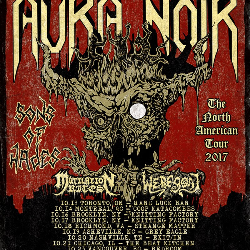 AURA NOIR to tour North America for the first time this month