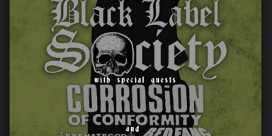 BLACK LABEL SOCIETY, CORROSION OF CONFORMITY, EYEHATEGOD, REDFANG AMERICAN TOUR 2017
