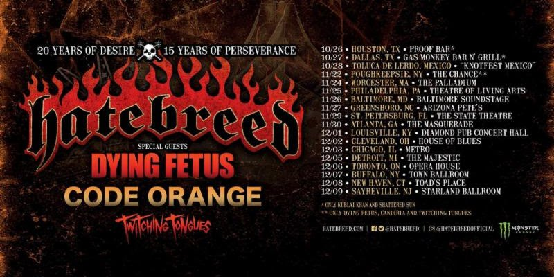 TWITCHING TONGUES: Tour With Hatebreed, Dying Fetus, And Code Orange To Commence This Week