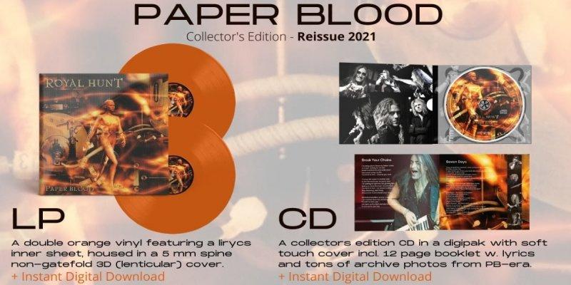 ROYAL HUNT ANNOUNCE THE RE-ISSUE OF PAPER BLOOD - Featured At Mtview Zine!