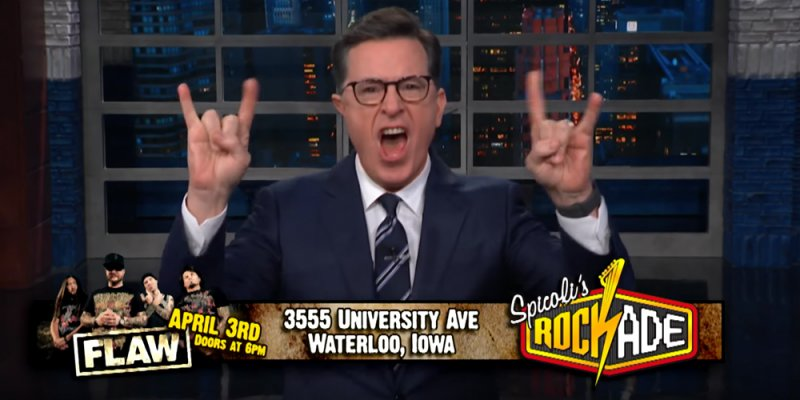 Stephen Colbert Name Drops Flaw on The Late Show, Increases 'Flaw Band' Google Searches 8 Trillion Percent!