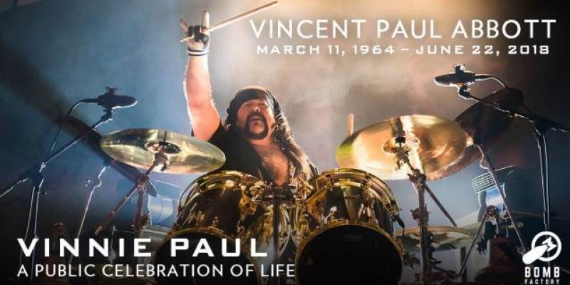 Watch VINNIE PAUL's Public Memorial Live Right Now