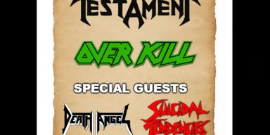 TESTAMENT, OVERKILL, DEATH ANGEL And SUICIDAL TENDENCIES To Join Forces On 'Battle Of The Titans' Tour In 2019?