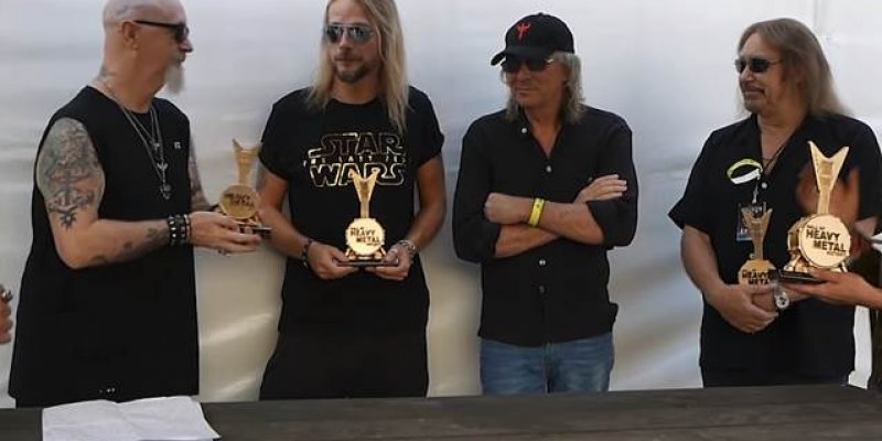 Watch JUDAS PRIEST Get Inducted Into 'Hall Of Heavy Metal History'!