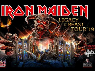 Iron Maiden Announce 'Legacy of the Beast' 2019 Tour For North America! Tour Dates Below!