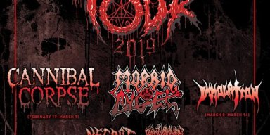 Decibel Magazine 2019 Tour Lineup Featuring Cannibal Corpse & Morbid Angel + Dates Announced