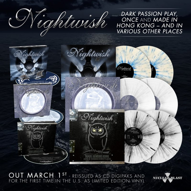 NIGHTWISH - Announce Reissue of Dark Passion Play, Once, & Made In Hong Kong - And Various Places + Pre-Order Now Available!