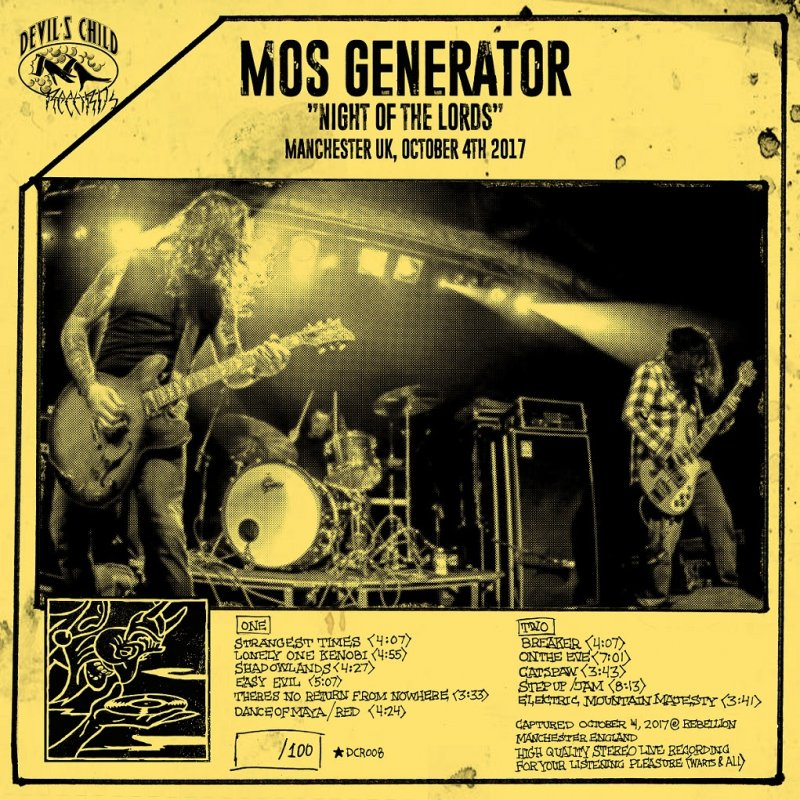 MOS GENERATOR New Live Album 'NIGHT OF THE LORDS' Out May 3rd via DEVIL'S CHILD RECORDS!