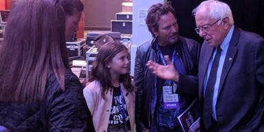 Eddie Vedder Meets With Bernie Sanders