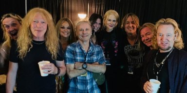 KEITH URBAN And Actress Wife NICOLE KIDMAN Attend IRON MAIDEN Concert