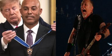 "TRUMP Walks Out To METALLICA's 'Enter Sandman"" At MARIANO RIVERA's 'Medal Of Freedom' Ceremony"