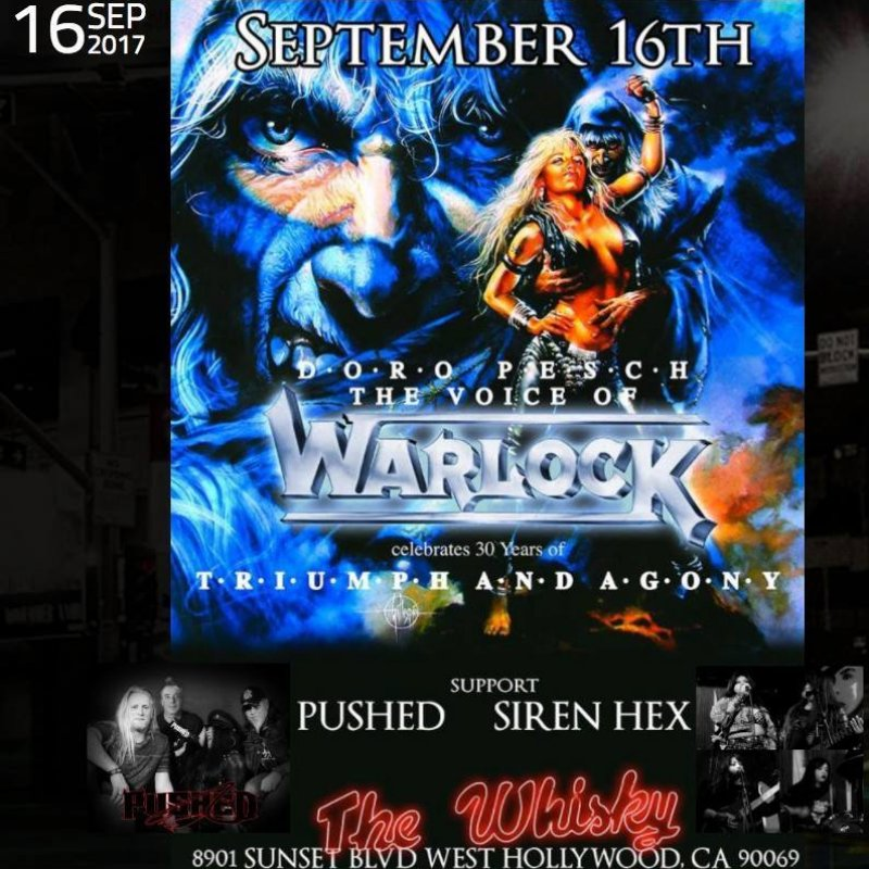 Pushed as support for Doro @ Whisky a go go september 16th 2017