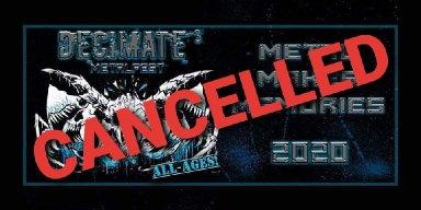 Alberta's Decimate MetalFest 2020 Cancelled