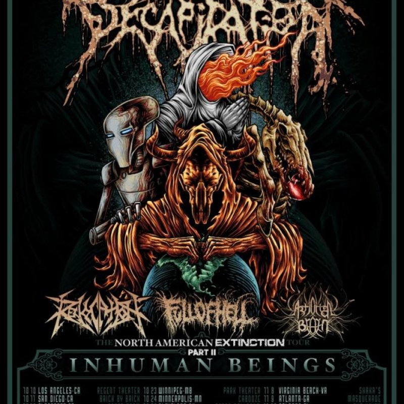 CATTLE DECAPITATION Announces Headlining Tour With Revocation, Full Of Hell, And Artificial Brain