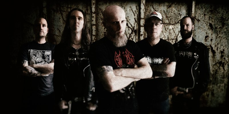 DARKENED premiere new track at NoCleanSinging.com - features members of GRAVE, MEMORIAM, A CANOROUS QUINTET, EXCRUCIATE+++