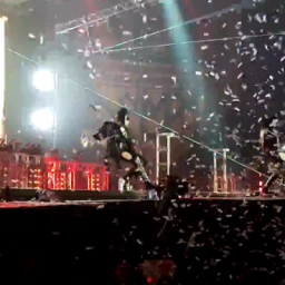 KISS's Gene Simmons Falls Onstage!