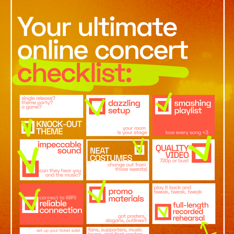 The ultimate online show checklist [infographic inside]