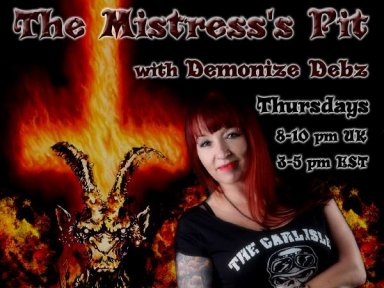 Demonize Debz, live on MetalDevastationRadio.com 3-5 EST or 8-10 UK