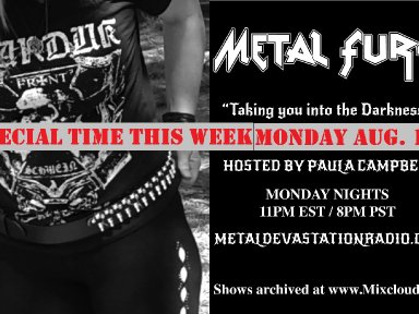 Metal Fury Show - August Back to School Special!
