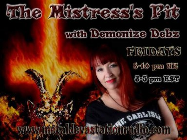 Metal Fridays with Demonize Debz  8pm UK /3pm EST