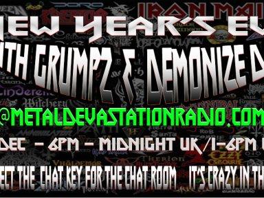 NEW YEARZ EVE - ARE YOU READY TO RAWWKKKKKK!!!!!6pm  UK / 1pm EST