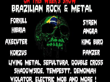 -Brazilian Rock & Metal with Demonize Debz  8-10pm UK / 3-5 EST