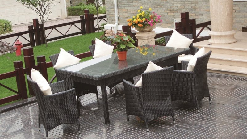 JHA-028C, Wicker Dining Set