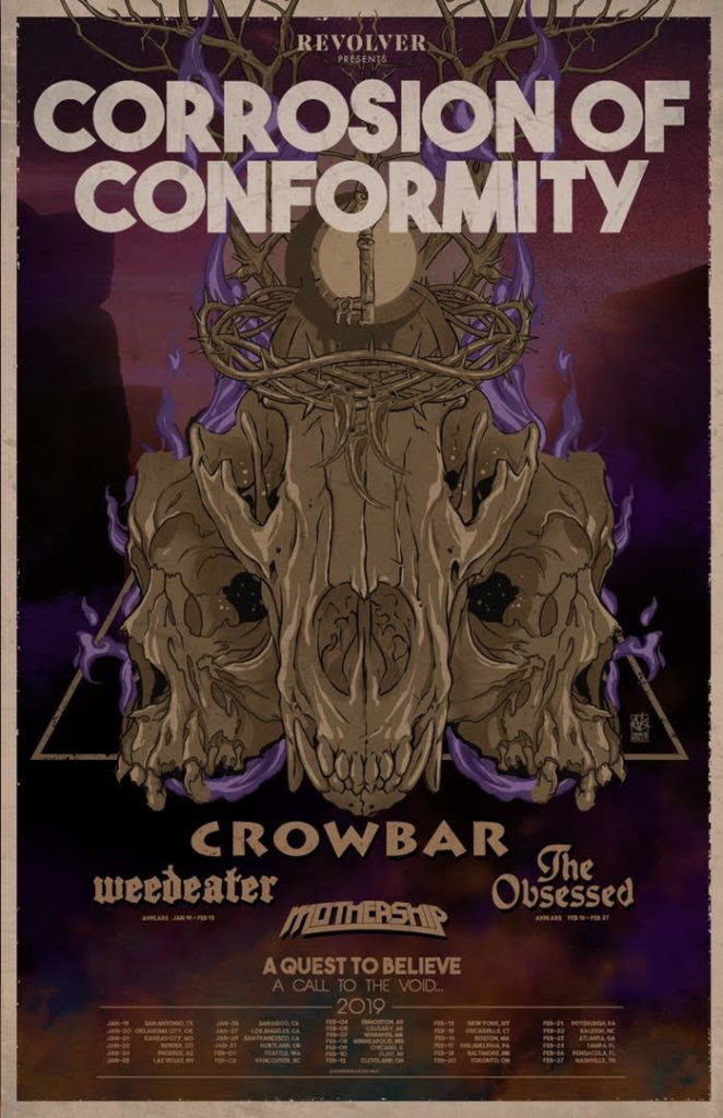 CORROSION OF CONFORMITY To Kick Off North American Headlining Tour This Weekend With Support From Crowbar Weedeater The Obsessed And Mothership.jpg