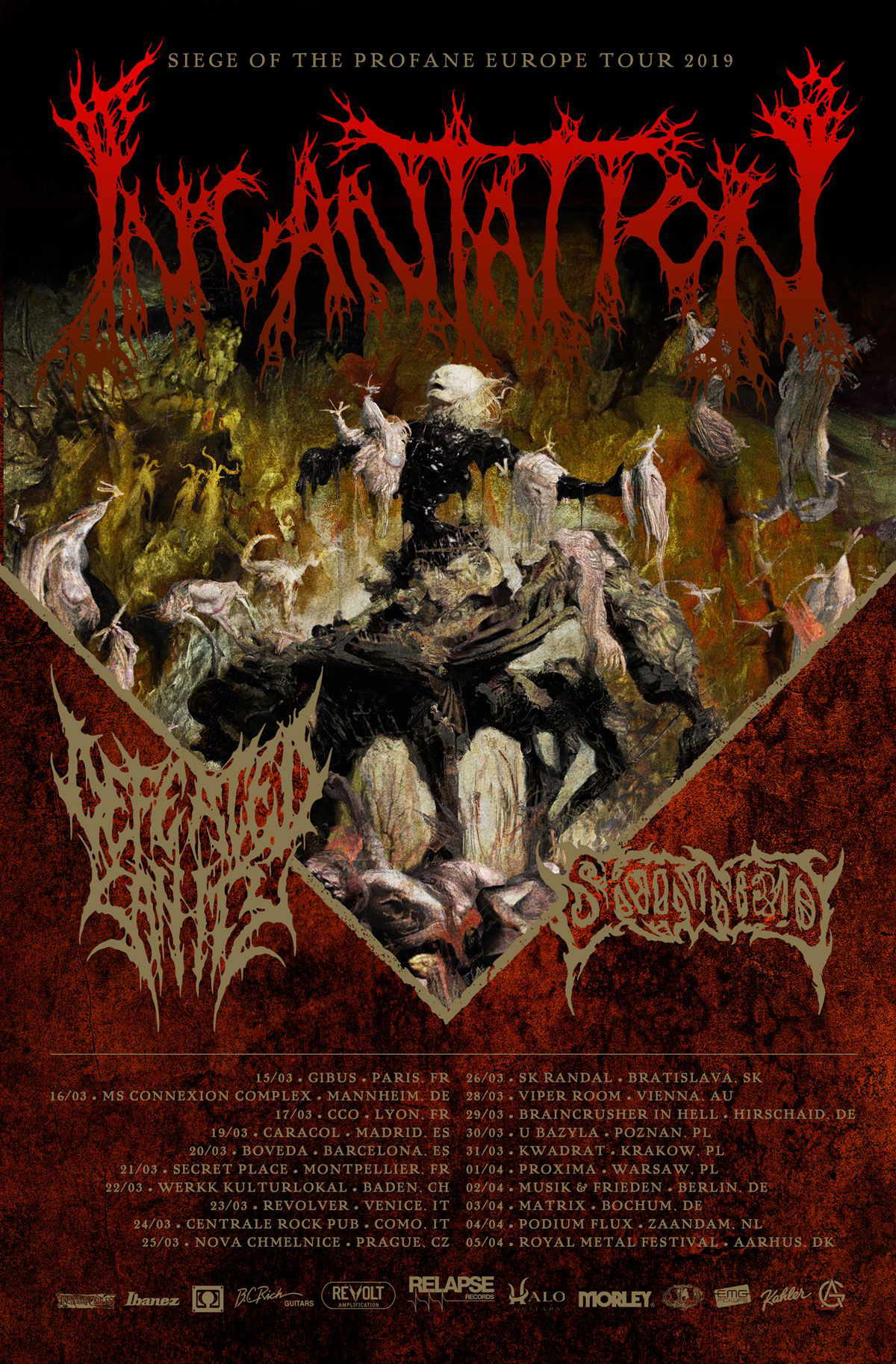 SKINNED  DEFEATED SANITY to tour Europe with INCANTATION in March  April.jpg