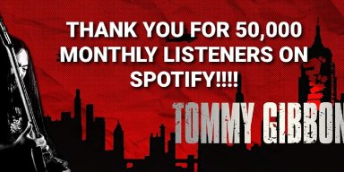 Tommy Gibbons Hits 50,000 Spotify Listeners!