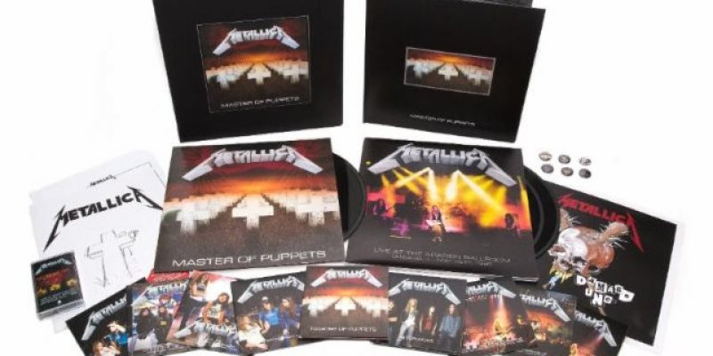 Watch James Hetfield Unbox METALLICA: 'Master Of Puppets' Reissue Box Set!