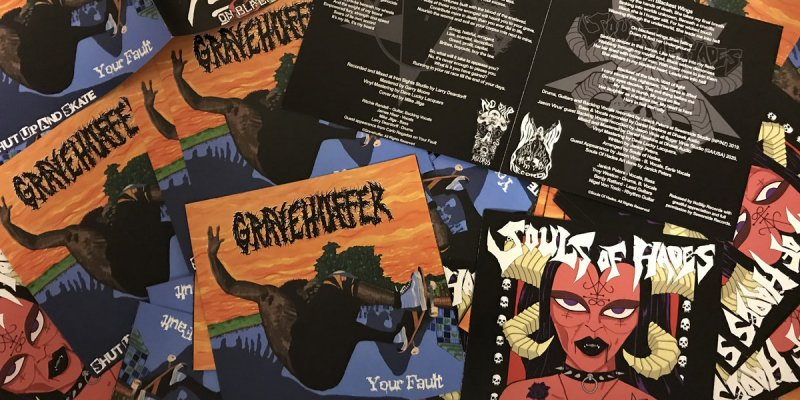 """New Promo: Gravehuffer - Limited 7"""" Split With Souls Of Hades - (Sludge Metal)"""