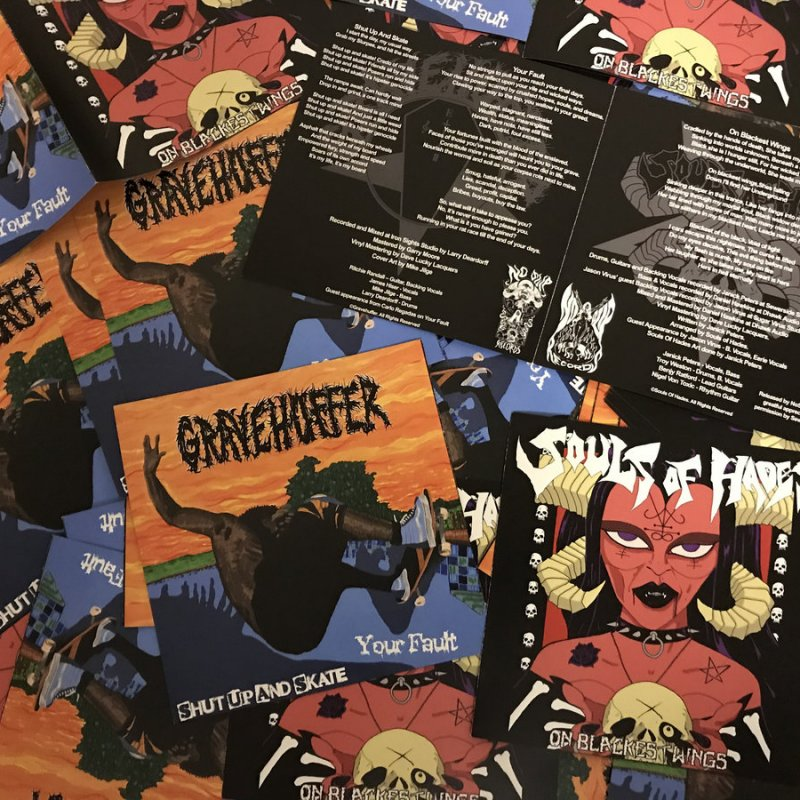 """New Promo: Souls Of Hades - Limited 7"""" Split With Gravehuffer - (Gothic Doom)"""