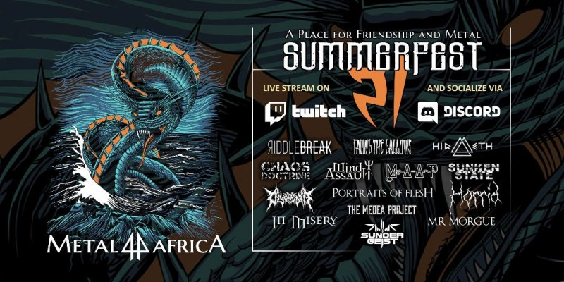 The Medea Project join the line-up for metal4africa SummerFest '21