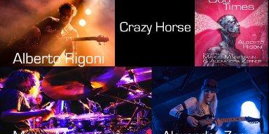 "ALBERTO RIGONI Release ""Crazy Horse"" Lockdown Video, Feat. Legendary Drummer Marco Minnemann And Guitarist Alexandra Zerner!"