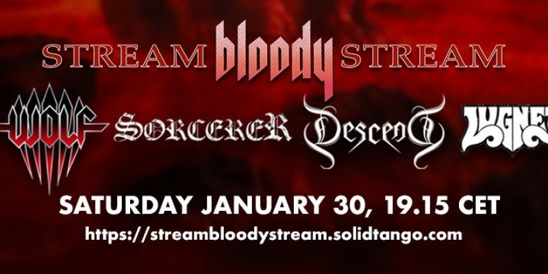 Wolf, Sorcerer, Descend and Lugnet streams concert in January