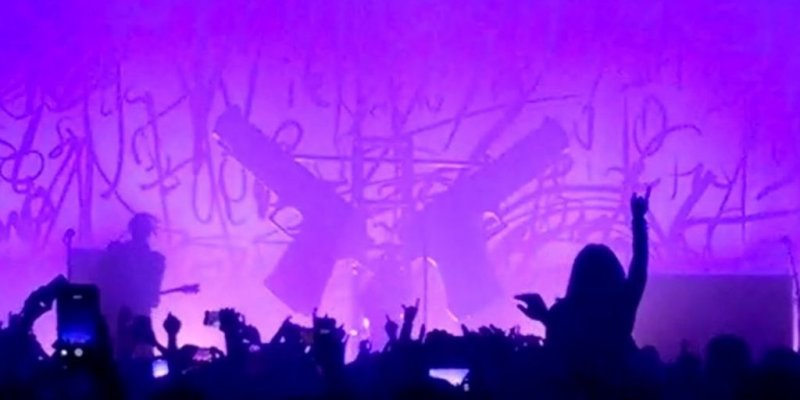Marilyn Manson Crushed by Stage Prop