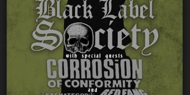 BLACK LABEL SOCIETY, CORROSION OF CONFORMITY, EYEHATEGOD, REDFANG AMERICAN TOUR 2017