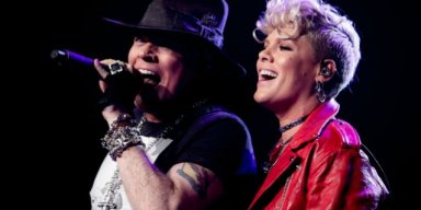 GUNS N' ROSES Joined By PINK On Stage At Madison Square Garden