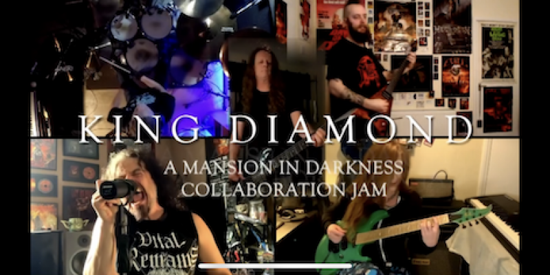 "KING DIAMOND'S ""A MANSION IN DARKNESS"" QUARANTINE COVER COLLABORATION FEATURES MEMBERS OF LET US PREY & MORE"