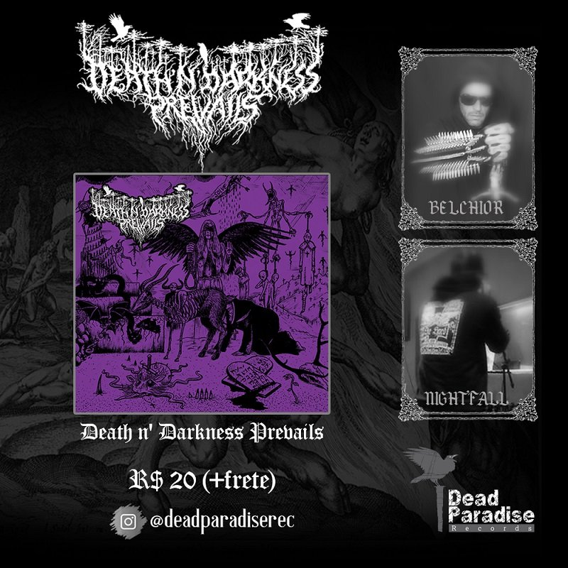 """DEATH N 'DARKNESS PREVAIL:"""" In the Name of Lust and Sin"""" is now available, get it now!"""