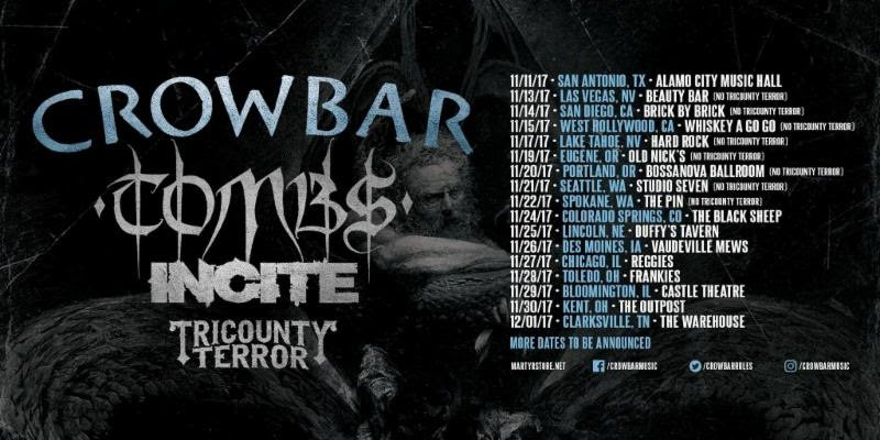 TOMBS: US Tour With Crowbar To Begin This Weekend!
