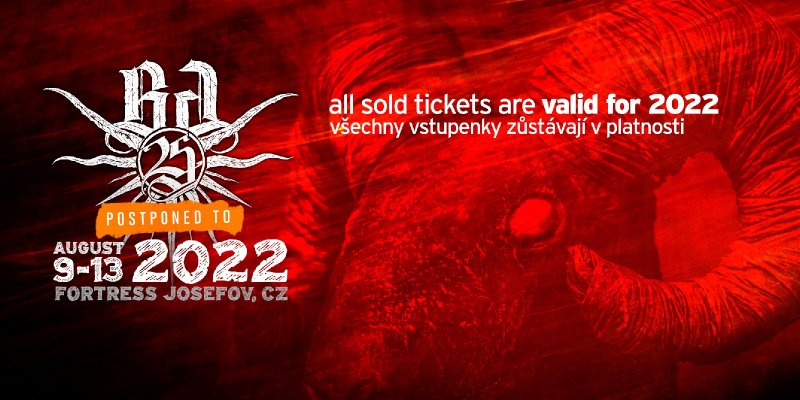 BRUTAL  ASSAULT is forced to postpone to 2022