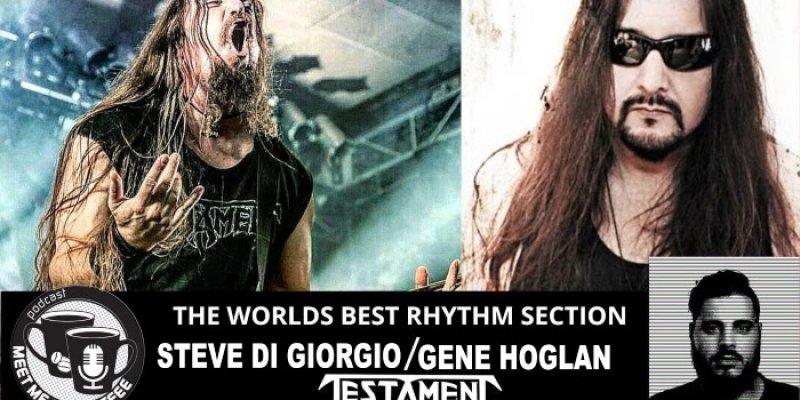 TESTAMENT's STEVE DI GIORGIO And GENE HOGLAN Feat. on Meet Me For Coffee/iHeartradio Podcast!