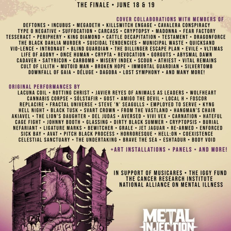 SLAY AT HOME FESTIVAL Kicks Off This Weekend with Members of Megadeth, Incubus, Killswitch Engage, Lacuna Coil, Animals As Leaders, Carcass, Periphery and Many more!