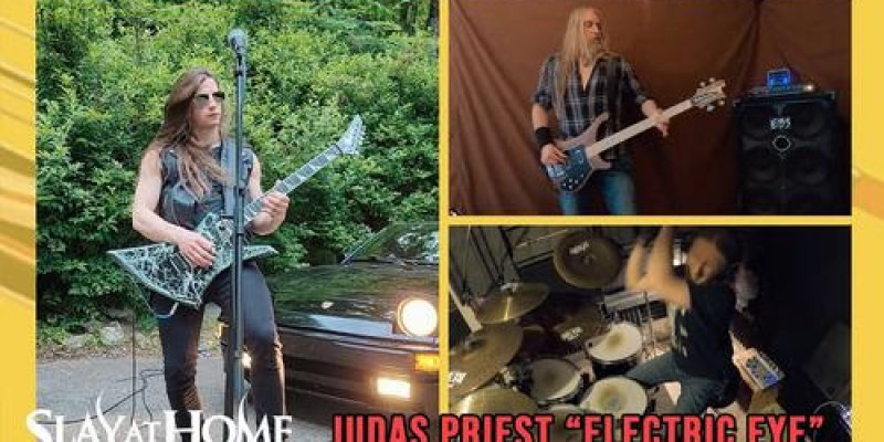 """Performance Video For JUDAS PRIEST's """"Electric Eye"""" From Slay At Home Fest, Feat. Members of THE BLACK DAHLIA MURDER / TESTAMENT / KING DIAMOND!"""