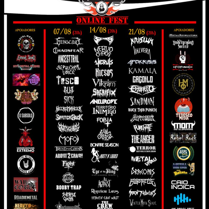 METAL NA LATA ONLINE FEST (7th, 14th and 21st August 2021)